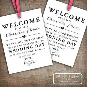 welcome bags for wedding guests custom printable wedding welcome bag tags labels hotel