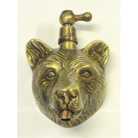 rubinetto passo rapido rubinetto testa orso con maniglia legno o ottone passo
