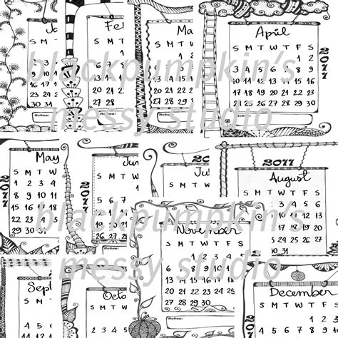 is doodle calendar free zen doodles 2011 doodle calendar on sale at etsy