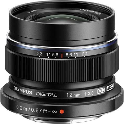 m zuiko olympus m zuiko digital ed 12mm f 2 lens black v311020bu001