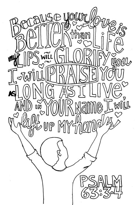 coloring images psalm 63 bw children s ministry psalm 63