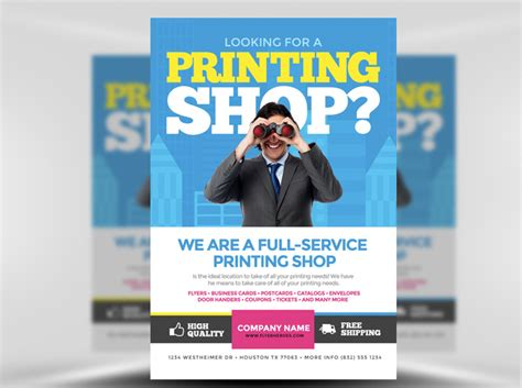 service flyer template printing services flyer template flyerheroes