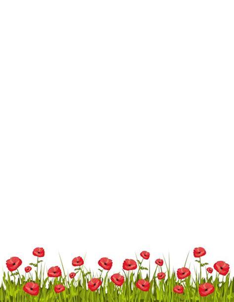 printable paper poppies pin by silvi as on marcos etiquetas bordes y fondos
