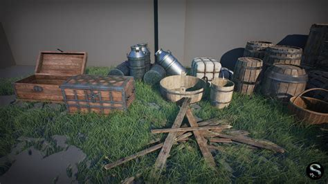 Architectural Blueprints For Sale Medieval Props Pack By Silvertm In Props Ue4 Marketplace