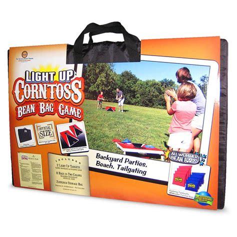 light up bean bags driveway light up corntoss bean bag
