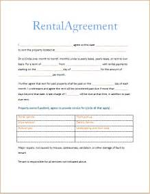 renters agreement template doc 592799 free printable renters agreement free