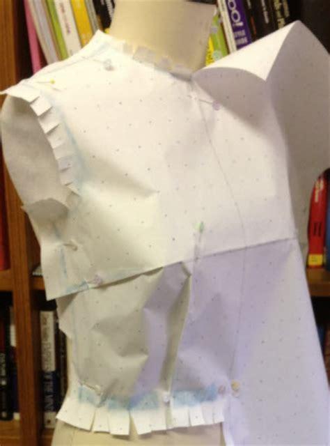 draping tutorial fashion incubator 187 blog archive 187 paper draping