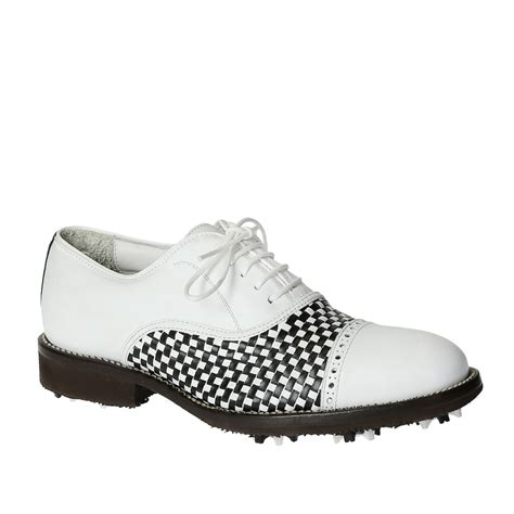 Handmade Golf Shoes - handmade golf shoes for in white black leather