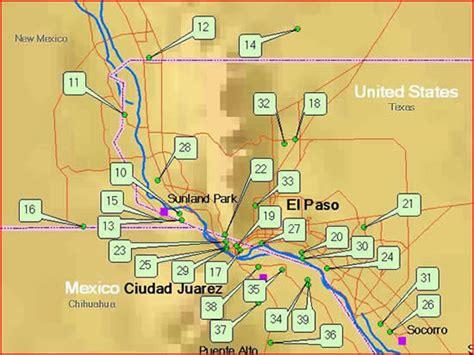 mapa de cd juarez chihuahua ciudad juarez el paso area monitoring sites border air