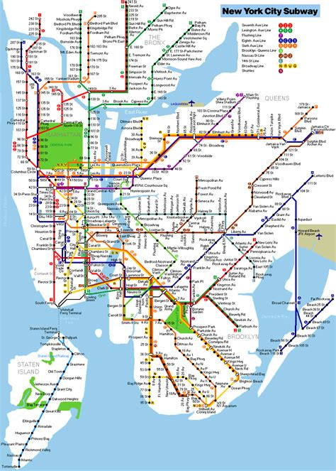 subway map new york newyorkcitytrippers
