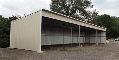 Slant Roof Garage by Garage Carports And Shop Buildings4less