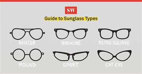 guide to different types of sunglasses
