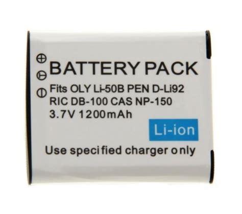 Baterai Olympus Li 50b Pentax D Li92 Ricoh Db 100 baterie pro olympus li 50b pentax d li92 ricoh db 100 1200mah