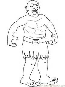 coloring pages troll giant coloring page 09 peoples