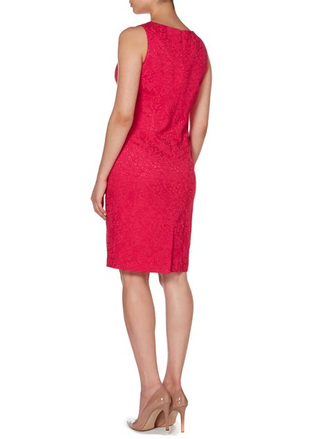 linea dress linea floral jacquard dress in pink lyst