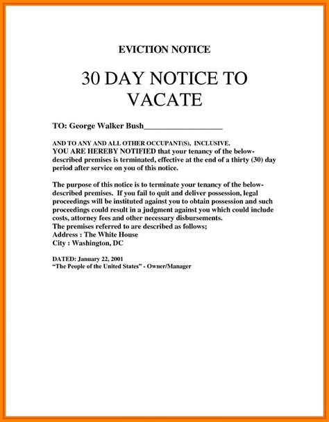 10 30 Day Notice To Roommate 3canc 30 Day Notice To Roommate Template