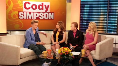 the couch cbs international pop superstar cody simpson visits the couch