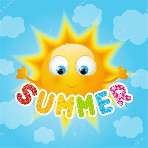imagenes abstractas de verano sol de dibujos animados con mensajes de verano vector de