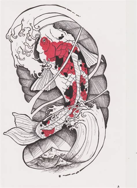 tattoo carpe koi noir et blanc carpe koi 2 by rpthedirefox on deviantart