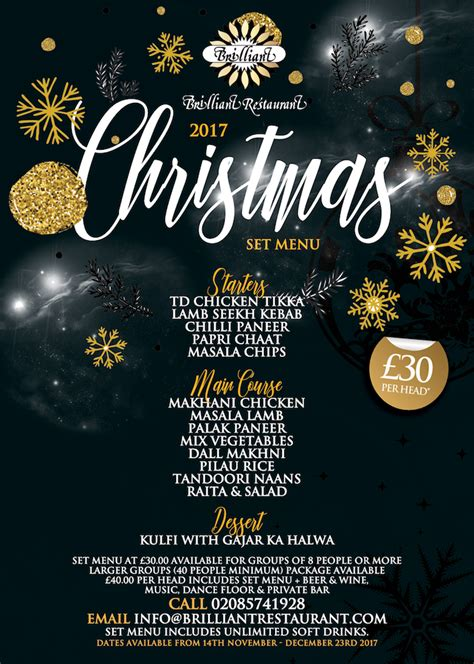 best new christmas menus menu available indian restaurant southall middlesex