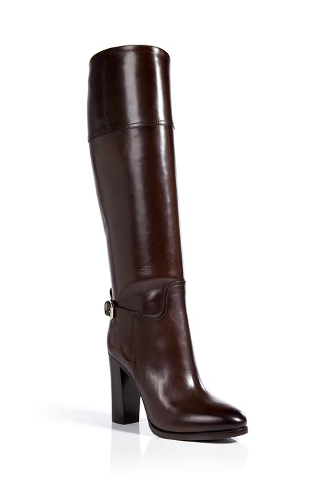 ralph leather boots ralph collection leather boots in brown lyst