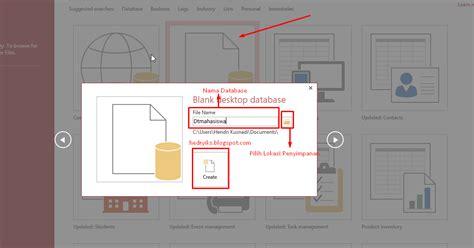 cara membuat database dengan microsoft excel 2013 cara membuat database dengan microsoft access 2013 tips