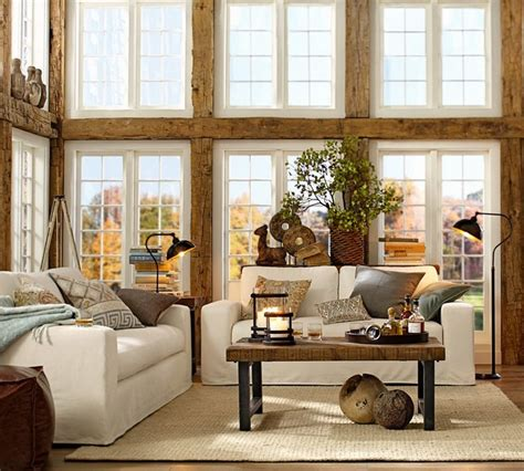 pottery barn style living room pottery barn