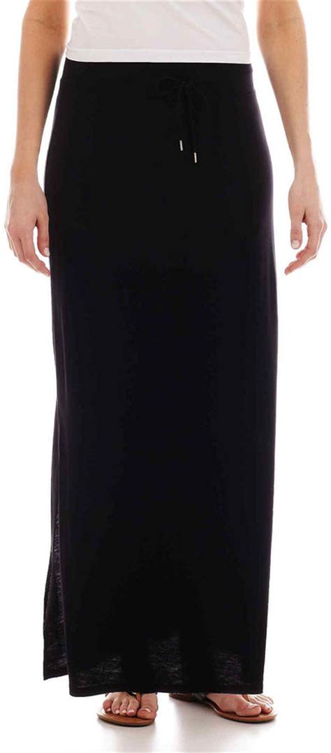 jcpenney a n a a n a side slit maxi skirt shopstyle