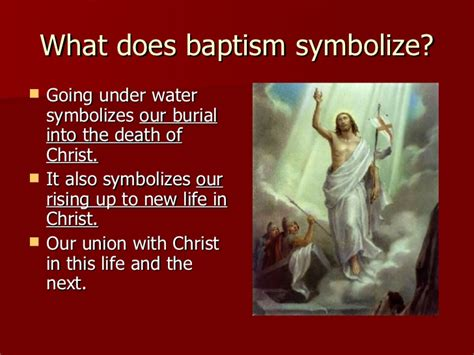 what does water mean the sacrament of baptism