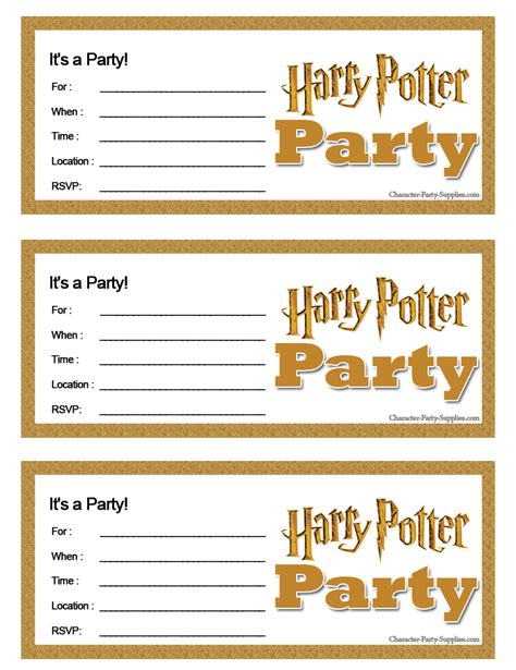 9 Best Images Of Harry Potter Invitation Printables Free Harry Potter Party Printables Harry Potter Invitation Template Free