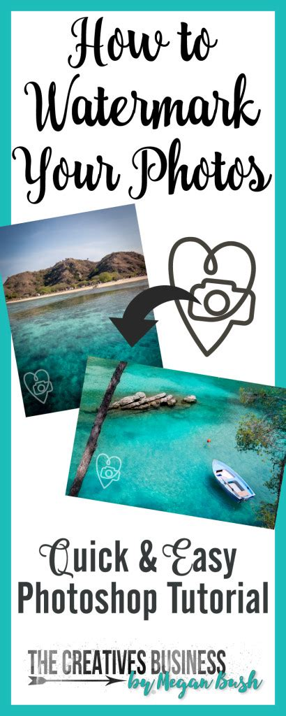photoshop tutorial quick learn how to create a watermark to protect your photos