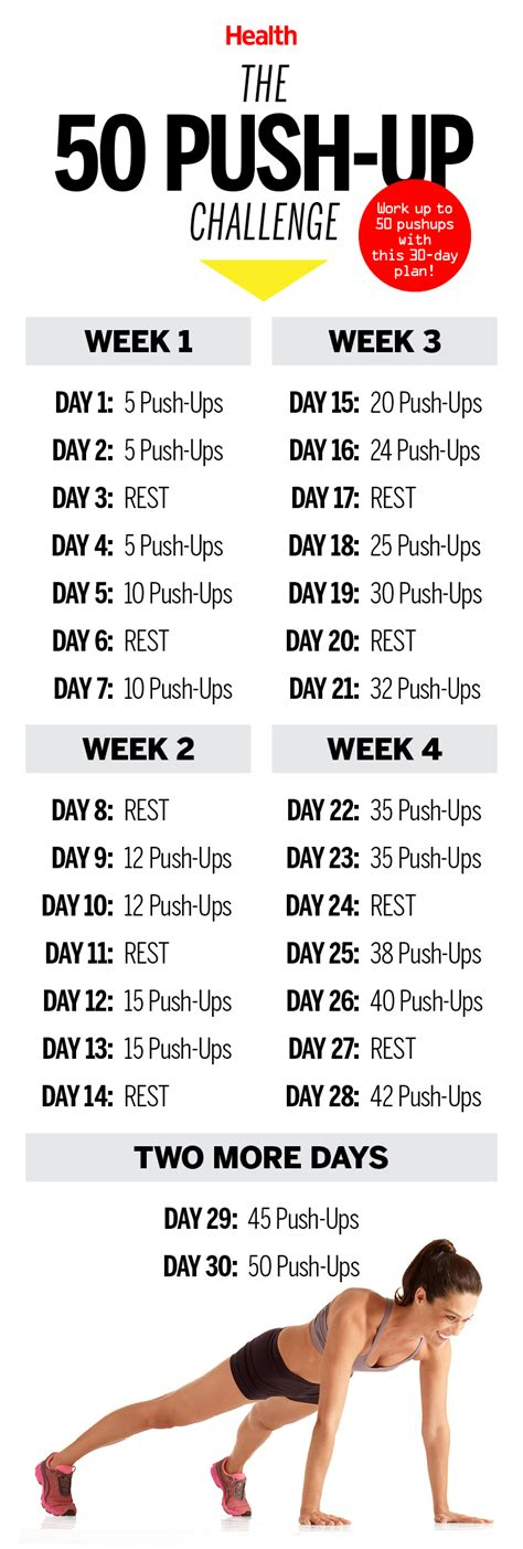 this 50 push up challenge will transform your in 30