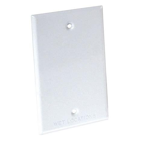 Box Bell C 26 bell 1 rectangular weatherproof blank cover plate 5173 1 the home depot