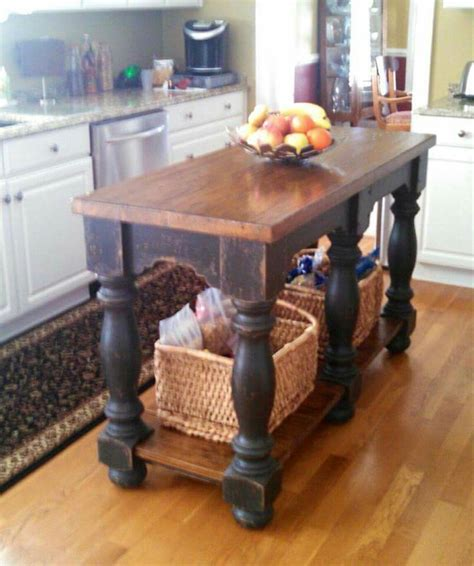 kitchen island farm table 17 best ideas about rustic kitchen island on pinterest