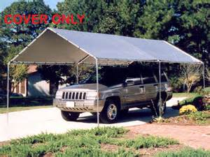 cing trailer awnings king canopy silver replacement tarp for 10 x 20 canopies