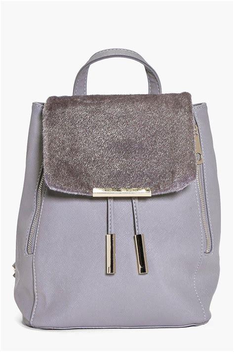Bag Wanita Rtn 021 Diskon zip detail faux pony mix rucksack 1 brutoco