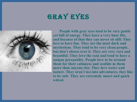 eye color meanings oh my gosh okay so it says that with gray
