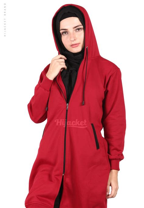 Hijacket Urbanashion Black jaket hijaber basic maroon black hijacket hj10 jaket