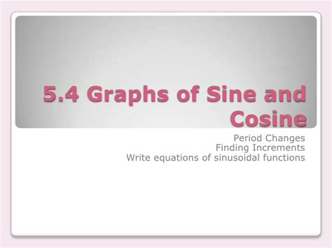 section 4 5 graphs of sine and cosine functions 5 4 2 the graphs of sine and cosine