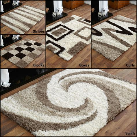 large shaggy rugs quality thick soft rug modern 5cm high small large shaggy non shaggy rugs ebay