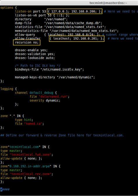 Dns Lookup Linux Setup Master Dns Server Using Quot Bind Quot Tools In Rhel