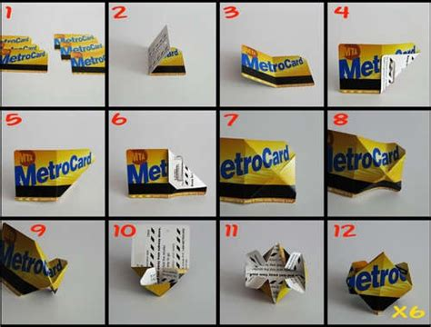 Metrocard Origami - origami cube nyc style diy origami and papercrafts
