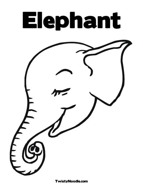 coloring page elephant face elephant face coloring page coloring home