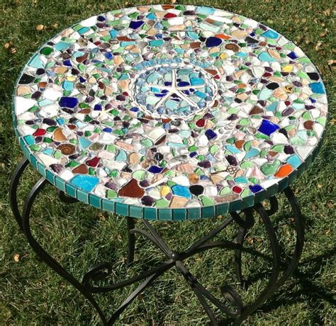 Patio Table Mosaic Diy Outdoor Table Ideas For Garden Improvement