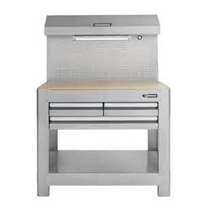 kobalt work bench shop kobalt 45 in w x 36 in h 3 drawer wood work bench at