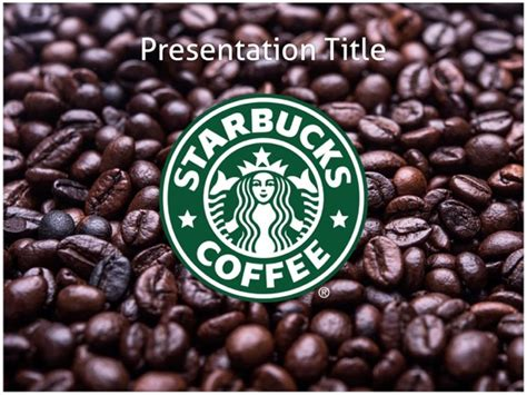 starbucks powerpoint template starbucks powerpoint template free