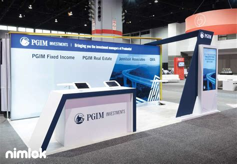 trade show booth design houston nimlok 10x20 exhibits prudential nimlok