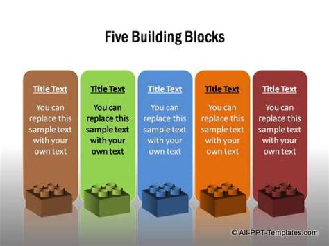 Powerpoint Creative Text Boxes Building Blocks Powerpoint Template
