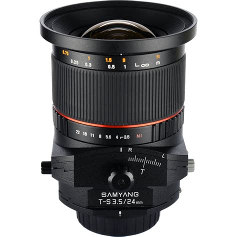 Lensa Canon Tilt Shift samyang 24mm f 3 5 ed as umc tilt shift lens for canon syts24 c