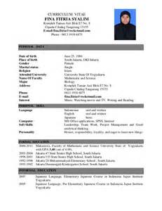 Curriculum Vitae Good Example by Application Letter Amp Cv
